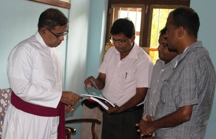 Meeting with the Bishop of Anuradhapura