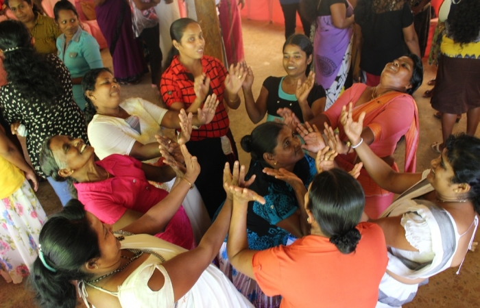 Healing activity in Hambantota for military widows