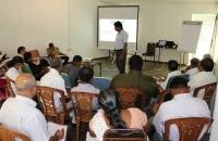 NPC Project Manager Saman Seneviratne speaks at Kandy DIRC